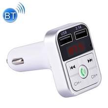 B2 Dual USB opladen Bluetooth FM-zender MP3 muziekspeler Car Kit  ondersteuning Hands-Free Call & TF Card & U disk (zilver)