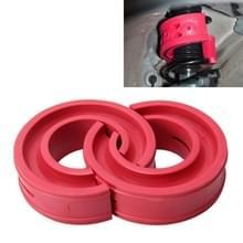 2 stks auto auto D type Schokdemper Veer bumper Power kussen buffer  voorjaar afstand: 22mm  colloïde hoogte: 43mm (rood)