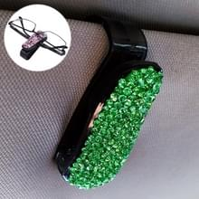 Auto zuivere kleur Diamond gemonteerde glazen Bill clip houder (groen)