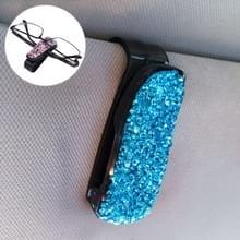 Auto zuivere kleur Diamond gemonteerde glazen Bill clip houder (blauw)
