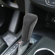 Universele antieslip ademende lederen auto Gear Shift knop Cover (zwart)