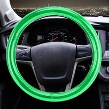 Universele auto plating mat leder + katoen stuurwiel cover  diameter: 38 cm (groen)