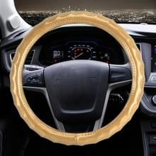 Universele auto Golf textuur plating lederen stuurwiel cover  diameter: 38 cm (goud)