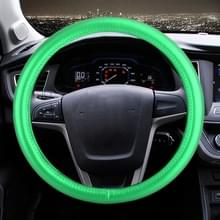 Universele auto plating lederen stuurwiel cover  diameter: 38 cm (groen)