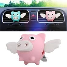 Universele auto Flying Pig shape luchtuitlaat aromatherapie (roze)