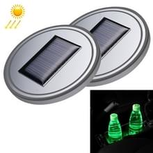 Auto universele acryl Solar USB Charger water beker Groove LED Ambient Light (groen licht)