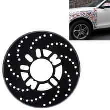 2 stuks universele Aluminium Auto auto wiel schijfrem Racing decoratieve Cover(Black)