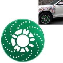 2 stuks universele Aluminium Auto auto wiel schijfrem Racing decoratieve Cover(Green)