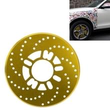 2 stuks universele Aluminium Auto auto wiel schijfrem Racing decoratieve Cover(Gold)