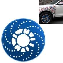 2 stuks universele Aluminium Auto auto wiel schijfrem Racing decoratieve Cover(Blue)