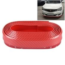 Universele 1.5m auto voorkant Achterbumper Lip Splitter Spoiler rok zelfklevende Protector(Red)