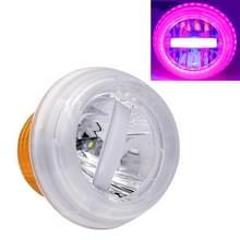Motorfiets 30W DC 12V-85V IP66 ronde kwal ademende lamp dubbele diafragma LED koplamp (roze licht)