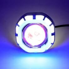Motorfiets 30W DC 12V-85V LED koplamp ingebouwde achthoekige dubbele diafragma hoek ogen + Devil Eye (wit licht)