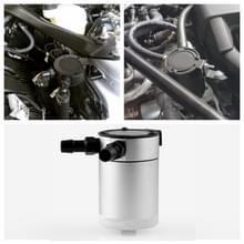 Auto Universal Compact baffled olie vangst kan 2-poorts (zilver)