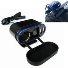 Motorfiets sigarettenaansteker modificatie met dubbele USB autolader met Schakelbediening