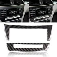 Auto Carbon Fiber centrale controle CD panel decoratieve sticker voor Mercedes-Benz W204 2011-2013