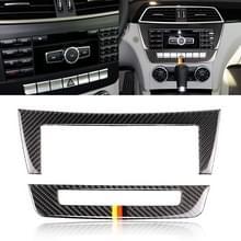 Auto Duitse vlag koolstofvezel centrale controle CD panel decoratieve sticker voor Mercedes-Benz W204 2011-2013