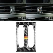Auto Duitse vlag koolstofvezel tussenliggende luchtuitlaat panel decoratieve sticker voor Mercedes-Benz W204 2011-2013