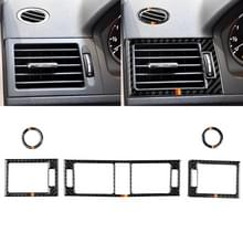 Auto Duitse vlag Carbon Fiber luchtuitlaat ring + tussenliggende luchtuitlaat + side Air Outlet panel decoratieve sticker voor Mercedes-Benz W204 207-2010
