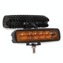 6 inch 18W 3000K IP68 8D Auto boot Marine werklichten Spotlight LED-lampen  DC 10-30V (geel licht)