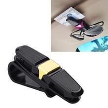 Voertuig gemonteerde bril Clip Car Eyeglass Bill Holder  Pakket: OPP Bag (Gold)