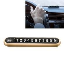 Verborgen nummer metalen auto tijdelijke parkeerplaat parkeerkaart (goud)