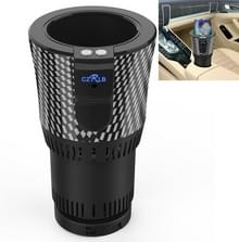 Draagbare 12V Auto Smart Dual-purpose Verwarming Koelbekerhouder (Zwart)