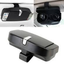 Auto multi-functionele bril zaak zonnebril vak met kaartsleuf  platte stijl (zwart)