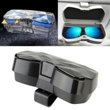 Auto multi-functionele bril zaak zonnebril opslaghouder met kaartsleuf  Diamond stijl (zwart)