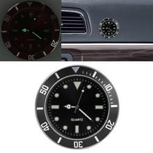 Auto plakken klok auto lichtgevende horloge (zwart)