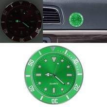 Auto plakken klok auto lichtgevende horloge (groen)
