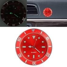 Auto plakken klok auto lichtgevende horloge (rood)