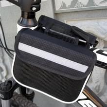 Fiets telefoon tassen Mountain Road fiets voorste hoofd tas zadeltas (zwart)