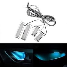 4-delige universele auto LED innerlijke handvat licht sfeerverlichting decoratieve lamp DC12V/0.5 W kabel lengte: 75cm (Ice Blue Light)
