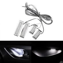 4-delige universele auto LED innerlijke handvat licht sfeerverlichting decoratieve lamp DC12V/0.5 W kabel lengte: 75cm (wit licht)