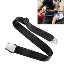 Kind Safety Bundle bescherming gordel voor elektrische motorfiets/fiets (zwart)