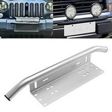 Universele auto kentekenplaat kunststof beugel frame houder stand mount (zilver)