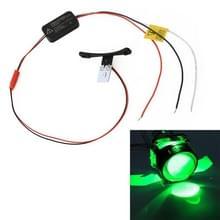 W2 DC9-16V/0.6 W duivel oog met SMD-5050 lamp kralen voor auto 2 5 inch HID projector lens (groen)