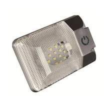 D4376S DC11-18V 3.6 W 6000-6500K IP50 24LEDs SMD-5050 Marine RV Dimbare LED Dome licht plafond lamp  met Touch Control