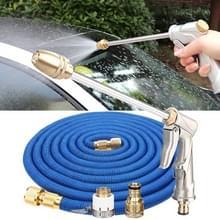 100ft 10m Telescopische Soft Tube Household Car High PressureWash Water Gun Spayer Nozzle Garden Irrigation Set (Blauw)
