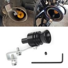 Universele aluminium Turbo geluid uitlaatdemper pipe Whistle auto/motorfiets Simulator Whistler  maat: L  buiten diameter: 30mm (zwart)