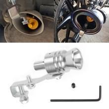 Universele aluminium Turbo geluid uitlaatdemper pipe Whistle auto/motorfiets Simulator Whistler  maat: L  buiten diameter: 30mm (zilver)