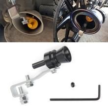 Universal aluminium Turbo Sound uitlaatdemper pipe Whistle auto/motorfiets Simulator Whistler  maat: M  buiten diameter: 23mm (zwart)