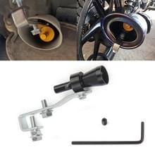 Universele aluminium Turbo geluid uitlaatdemper pipe Whistle auto/motorfiets Simulator Whistler  maat: S  buiten diameter: 20mm (zwart)