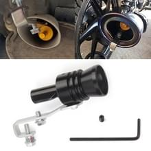Universele aluminium Turbo geluid uitlaatdemper pipe Whistle auto/motorfiets Simulator Whistler  grootte: XL  buiten diameter: 35mm (zwart)