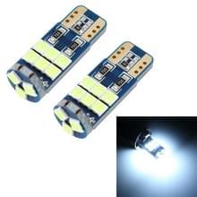 2 PCS T10 DC12 / 1W / 6000K / 80LM 9LEDs SMD-3030 Auto Clearance Light (Wit Licht)