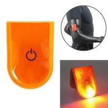 2 PCS Outdoor Night Running Veiligheidswaarschuwing Licht LED verlichte magneetclip licht (Oranje)