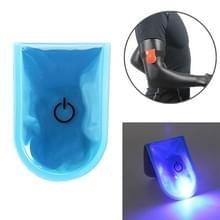 2 stks buiten nacht Running veiligheid waarschuwing licht LED verlichte magneet clip licht (blauw)