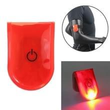 2 PCS Outdoor Night Running Veiligheidswaarschuwing Licht LED verlichte magneet clip licht (rood)