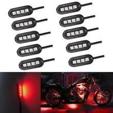10 PCS Universal Car / Motorfietsen LED sfeer lichten Innerlijke decoratieve lamp DC12V (Rood licht)